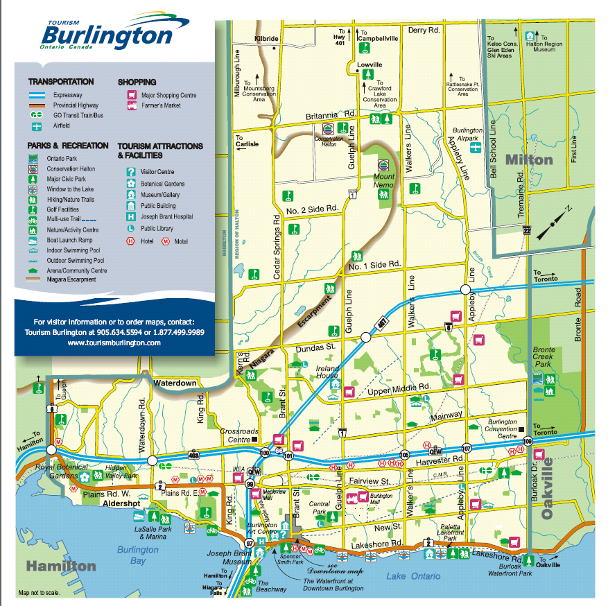 Burlington Marketwatch Burlington Street Maps And Neighbourhoods - Burlington map